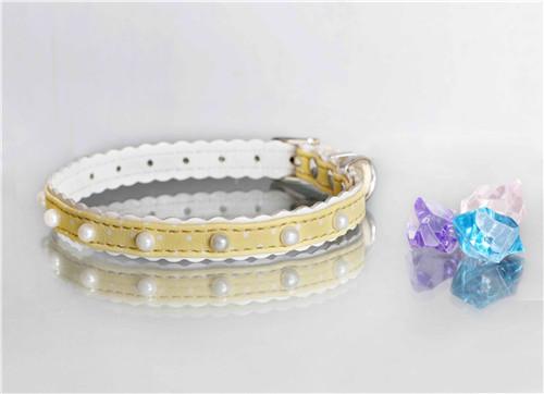 PU Jewelry Dog Collar