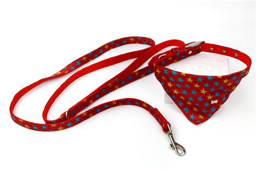 Nylon Ribbon Bow Tie Dog Leash