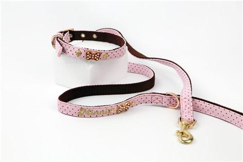 PU Bow Tie Dog Leash