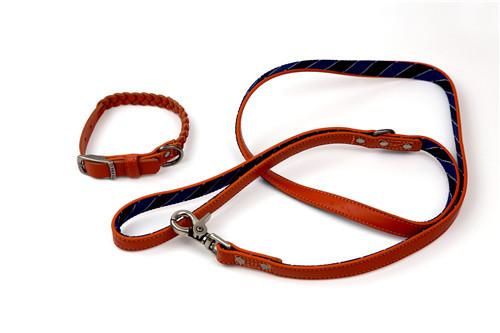 Real Leather Kintting Dog Leash