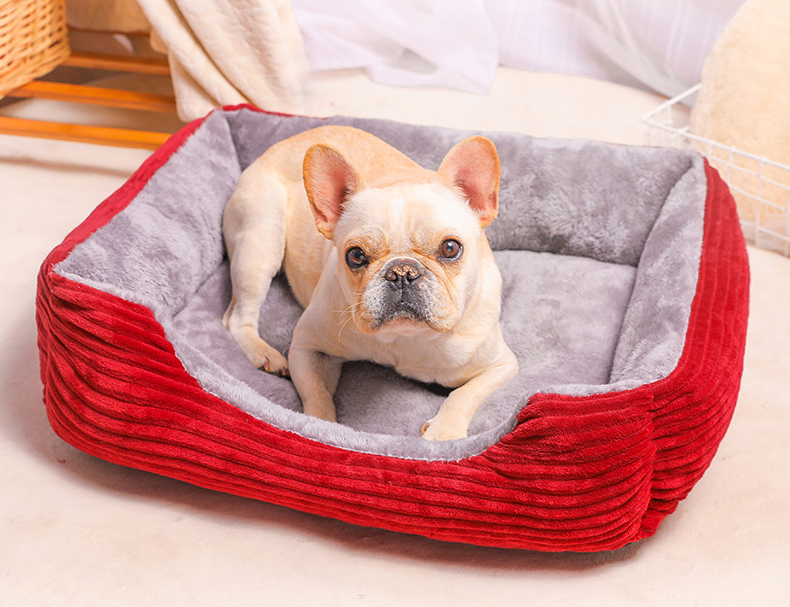 Where is the dog bed suitable for in the home?