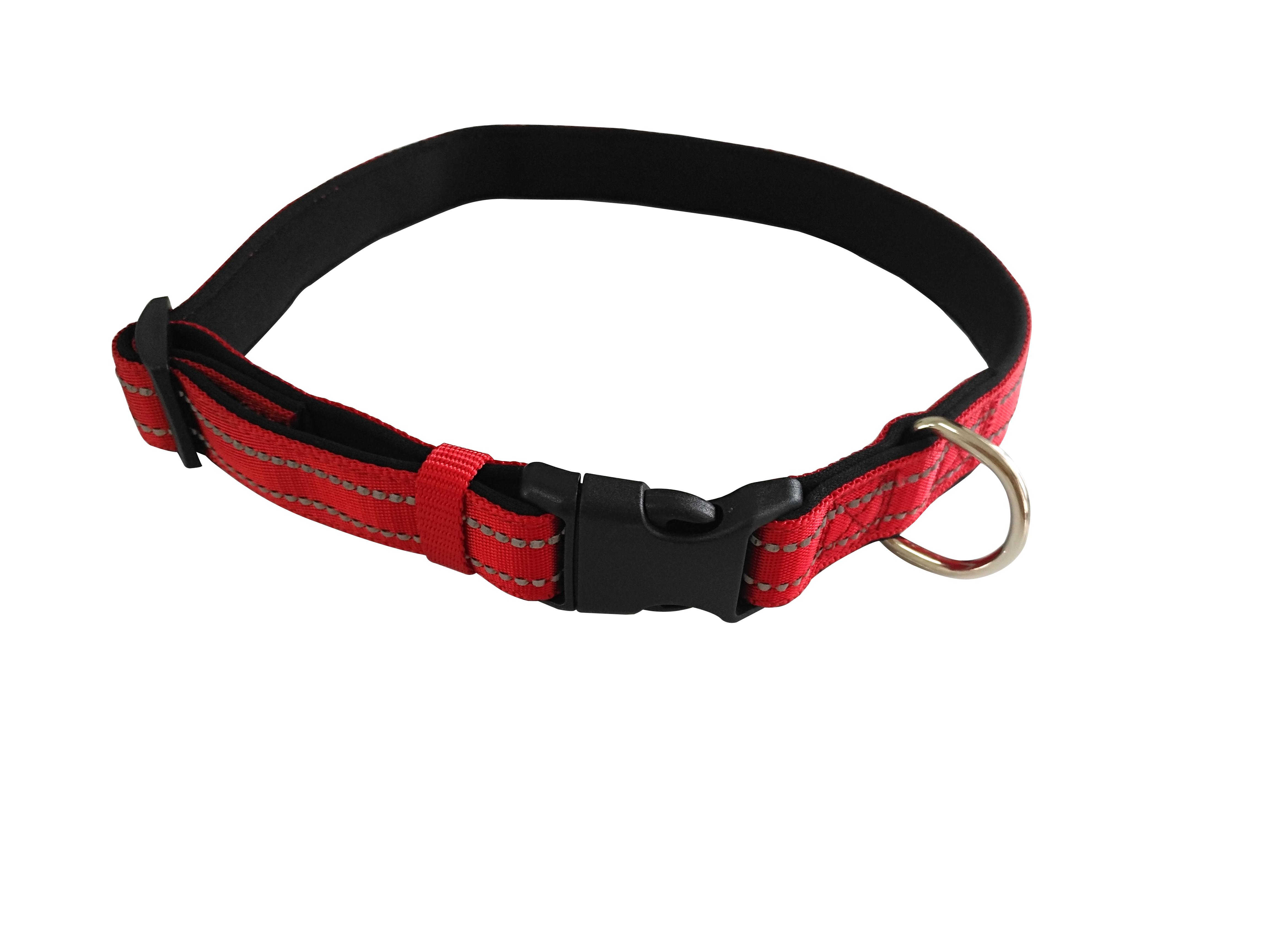 Reflective silk dog collar